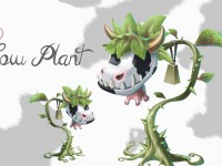 Cow Plant Concept Art Wallpaper 2560x1440
