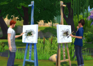 The Sims 4 Painter Career