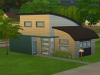 The Sims 4 Modern Starter Willows - Front