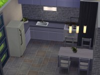 The Sims 4 Modern Starter Willows - Kitchen