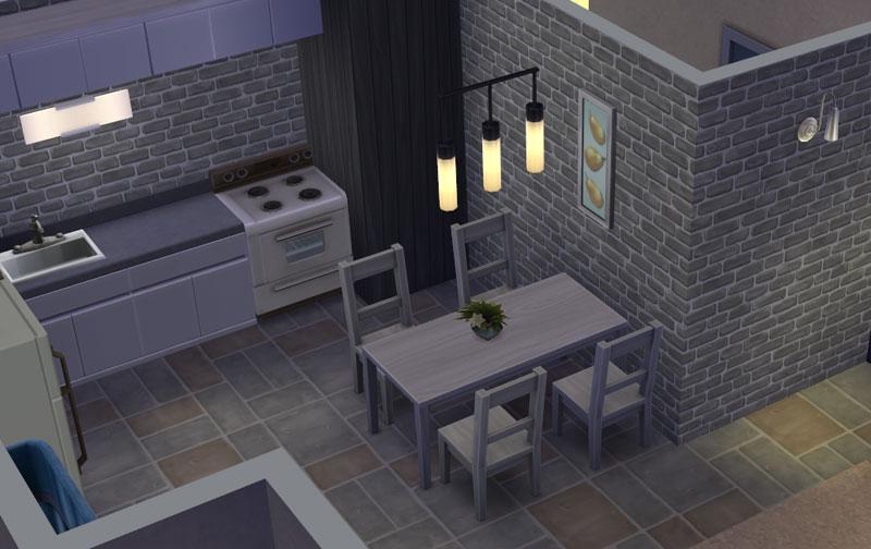 Download modern starter willows sims online for Modern kitchen sims 3