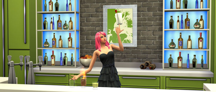 Mixology Skill in The Sims 4