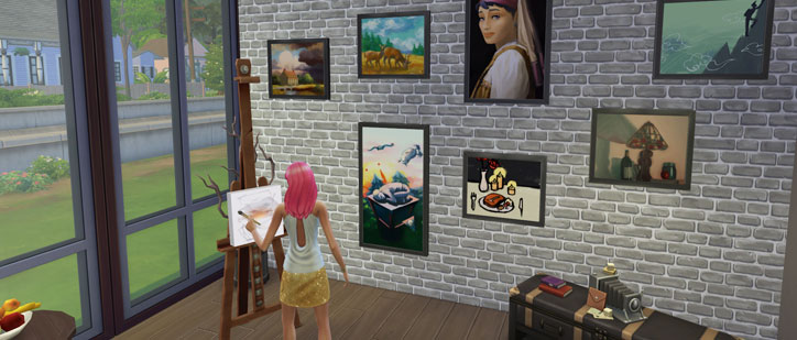 Painting Skill Guide Gallery - The Sims 4