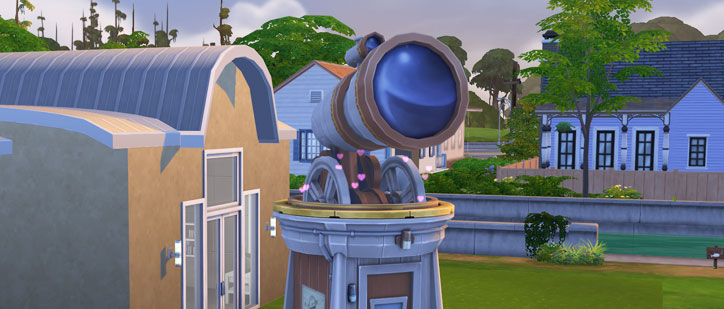 Logic Skill in The Sims 4 Woohoo in Observatory