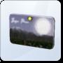 Moonlight Falls Postcard