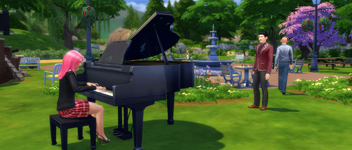 Playing Piano in the Park