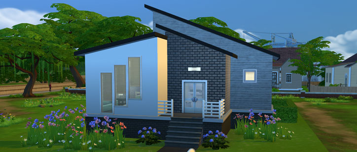 How to build a starter home in the sims 4 sims online for Build a home online free