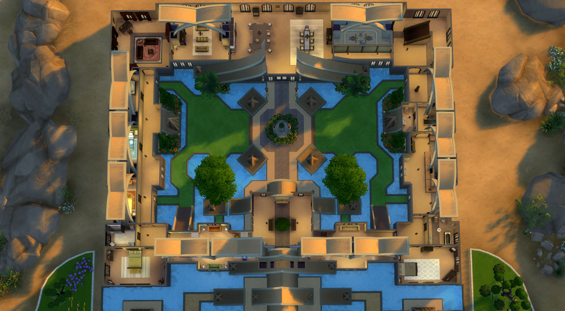 sims 4 download golden fantasy castle floorplan