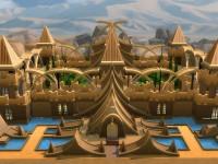 Golden Fantasy Castle Front
