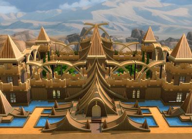 Golden Fantasy Castle