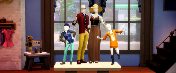 The Sims 4 Retail Mannequins