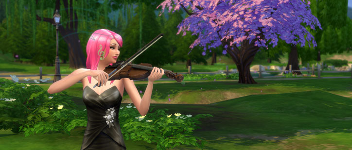 Playing the Violin in the park