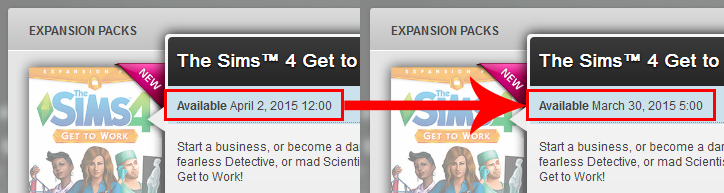 Unlock The Sims 4 Expansion earlier