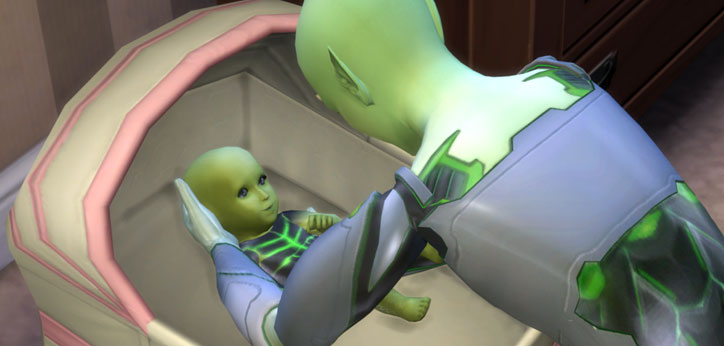 Aliens in The Sims 4 Get to Work - Sims Online