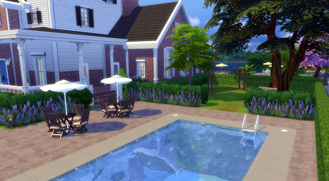 Family Dream House Sims 4 Garden