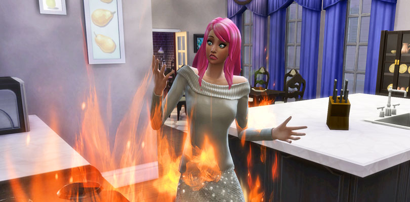 Death by Fire in The Sims 4