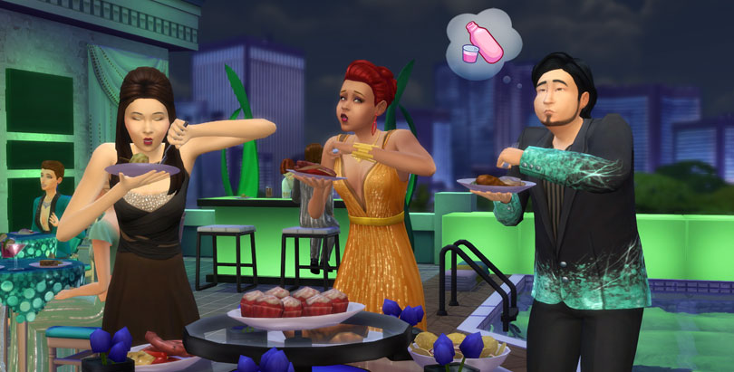 The Sims 4 Luxury Party Stuff Pack Buffet Table