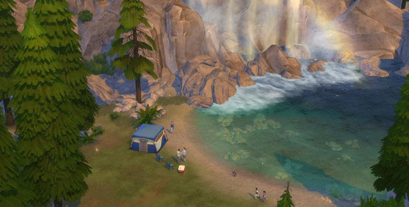 Outdoor Retreat Screenshot Waterfall