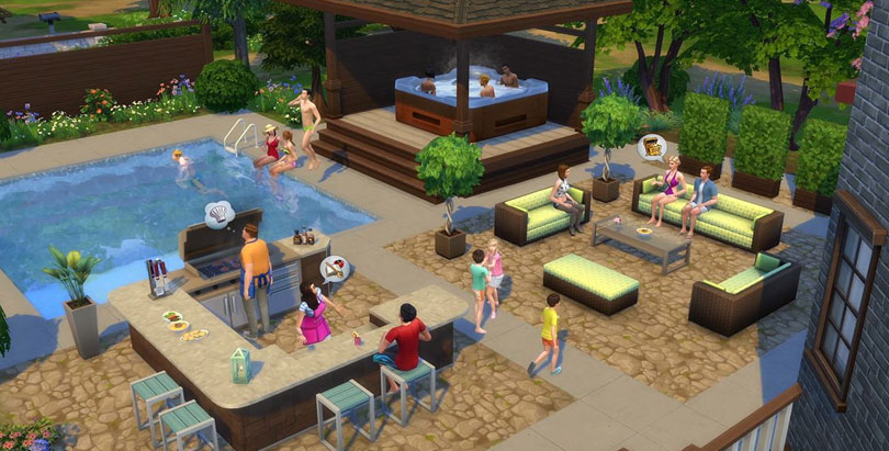 The Sims 4 Perfect Patio Stuff Pack objects outdoors