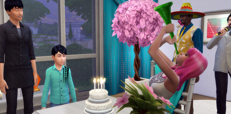 Birthday Cake Cheat Sims