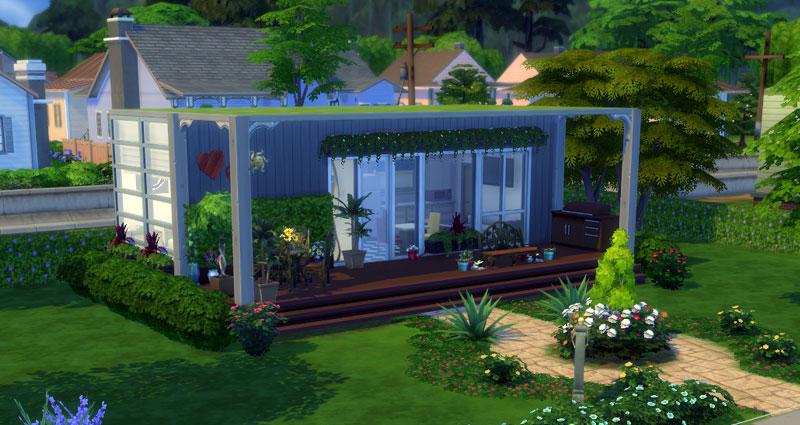 Desain rumah di the sims 4 rumah sel for Minimalist house sims 4