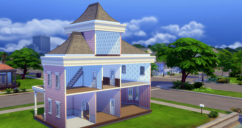 Sims 4 Building Challenge, Dollhouse