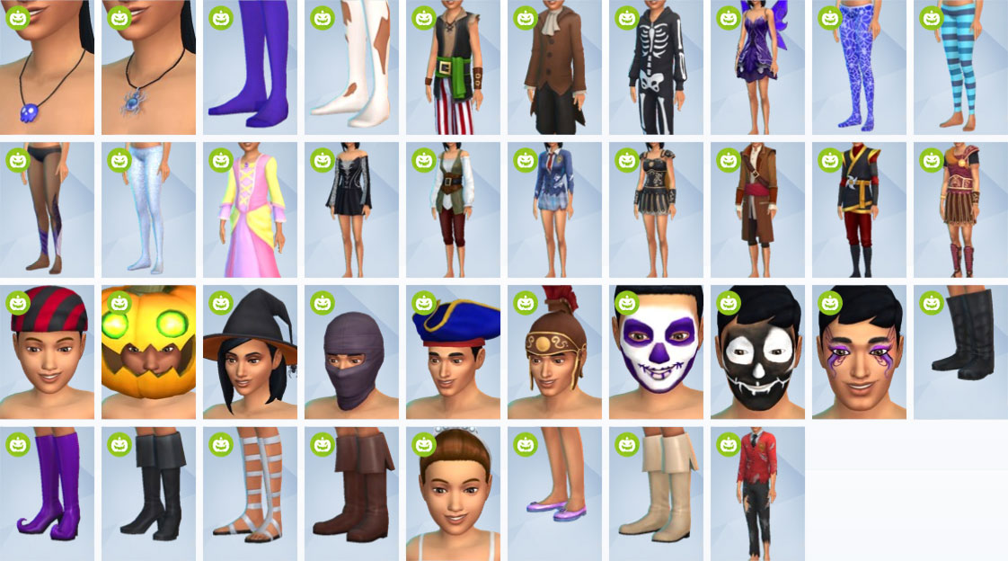 The Sims 4 Spooky Stuff CAS items