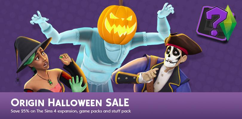 halloween sale on origin sims online