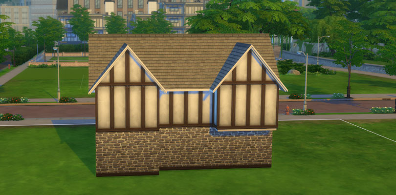 Sims  How To Build Half Wall Roof