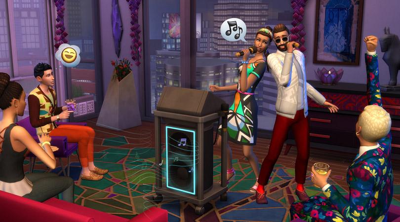 sims-4-city-living-screen-singing-karaoke