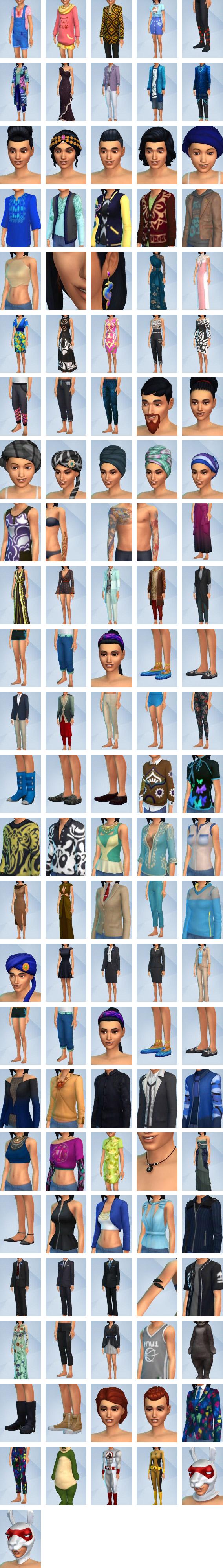 The Sims 4 City Living CAS items