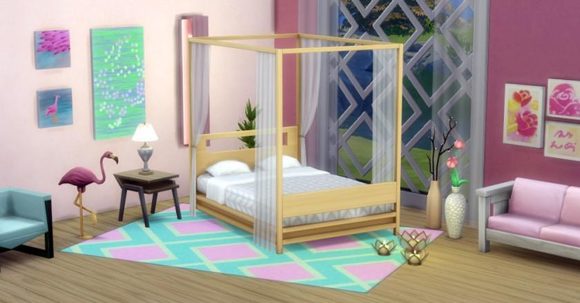 The Sims 4 Flamingo Room Challenge