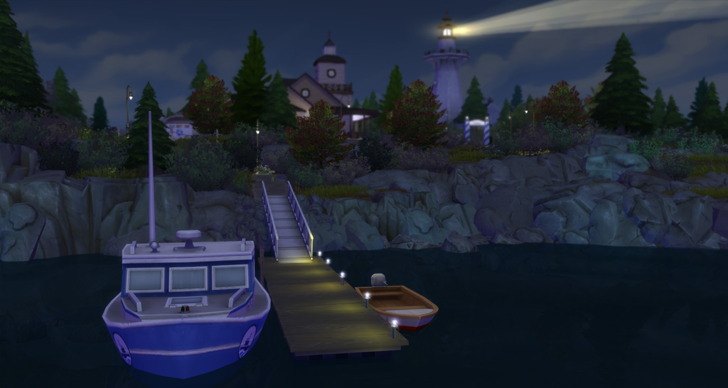 Sims can visit Deadgrass Isle by boat