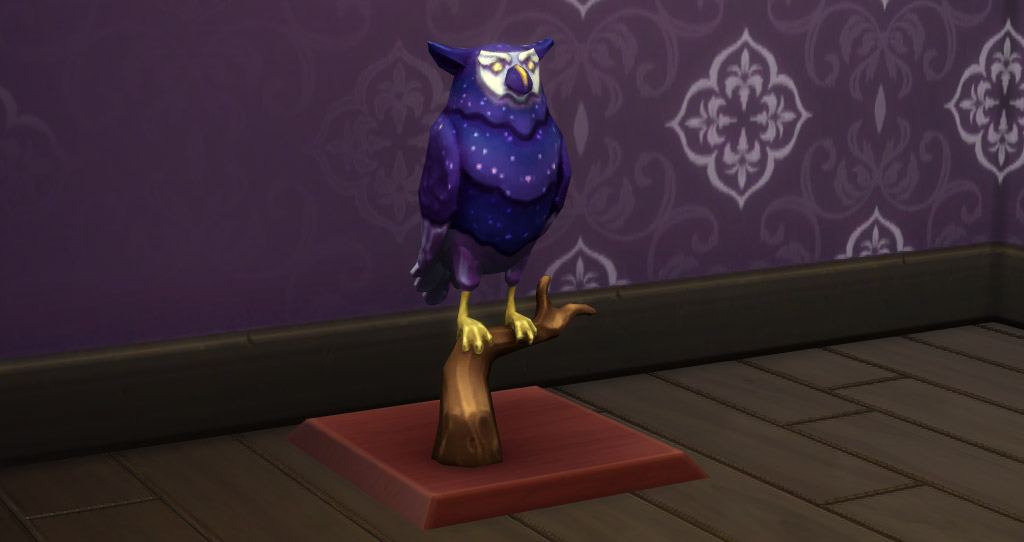 When you collected all feathers there is a beautiful owl statue you can assemble with the feathers