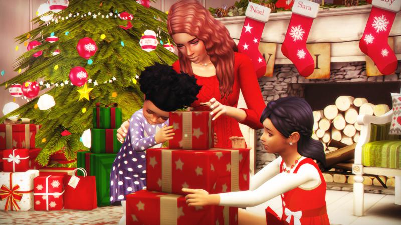 Spring Sims Christmas portrait