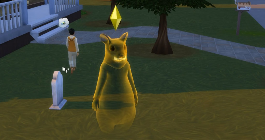 Drinking the inoculation serum as this ghost will transform them back to a normal Sim