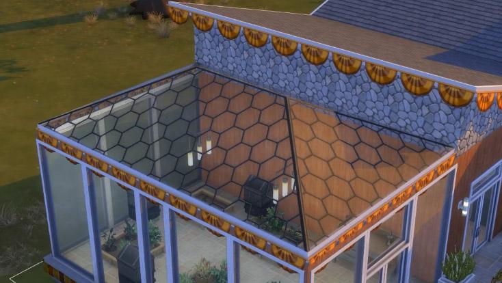 Hexagon-Paneled Glass Roof