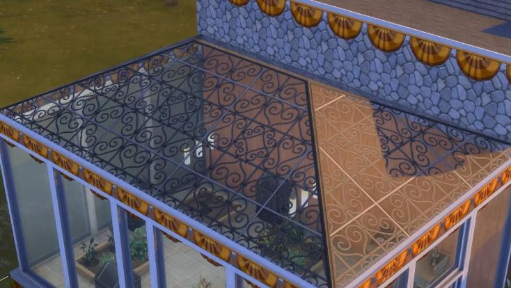 Ornamental-Scrollwork Glass Roof