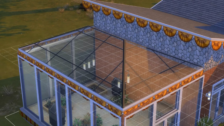 Square-Paneled Glass Roof